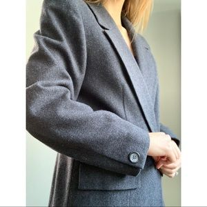 Pendleton gray one button wool blazer